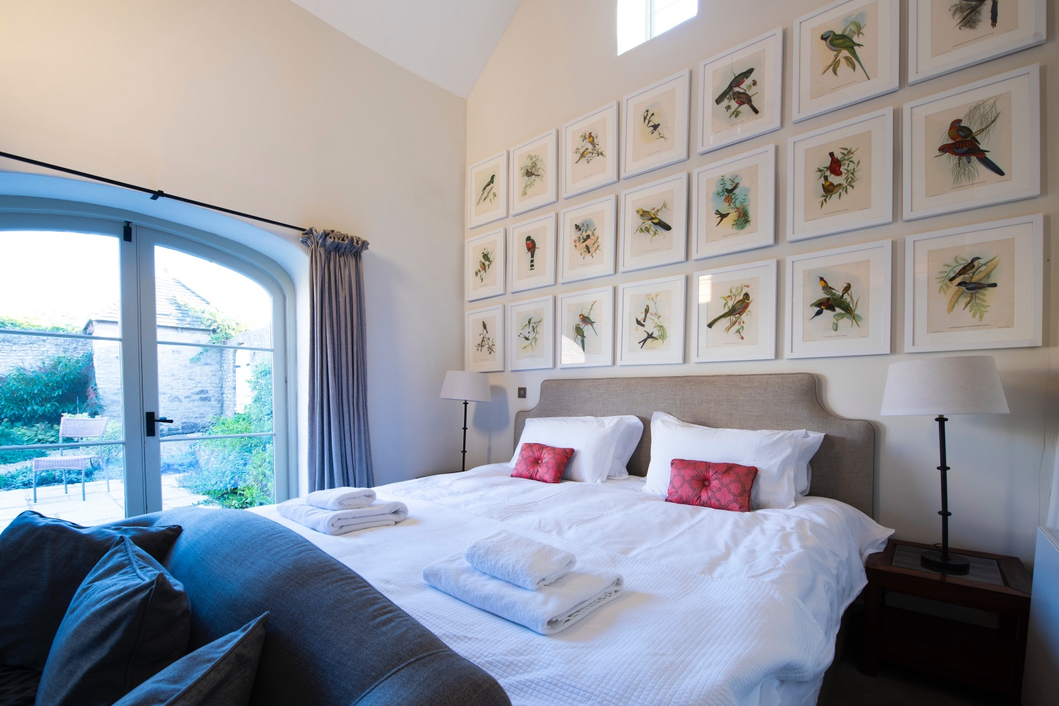 image of the main bedroom at The Garden House