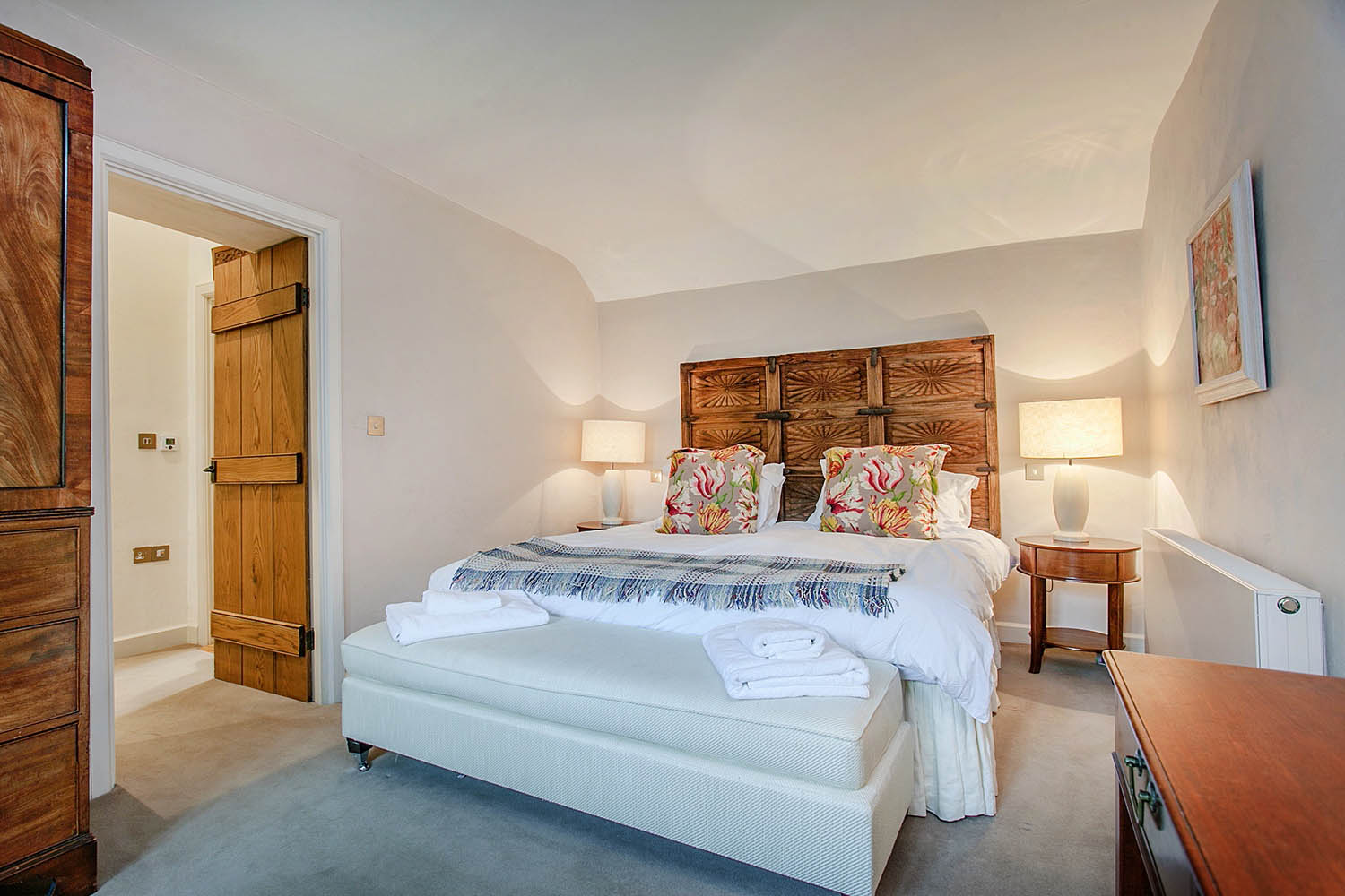 image of the second bedroom at The Garden House, Lilycombe Farm