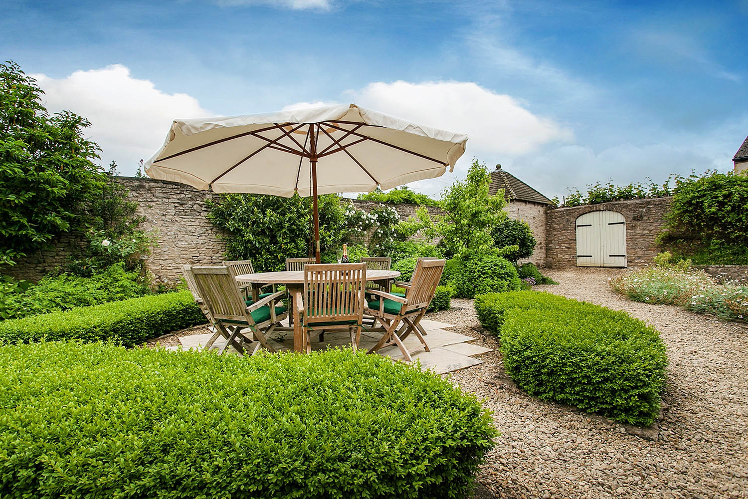 image of the private garden at The Garden House, Lilycombe Farm