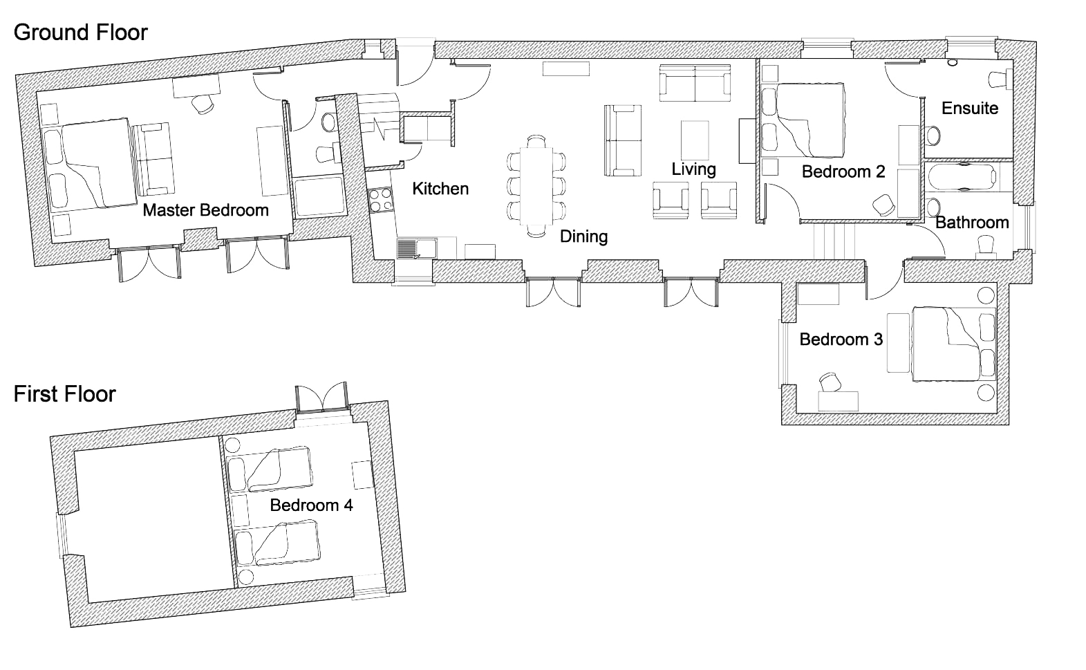 The floorplan for The Garden House
