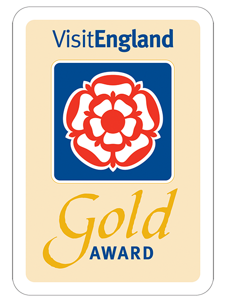 The Visit England Gold Award accreditation image